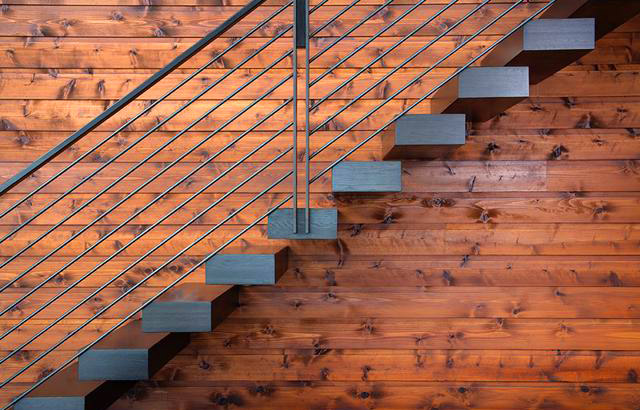 Bainbridge Island Retreat, Interior, Stairs