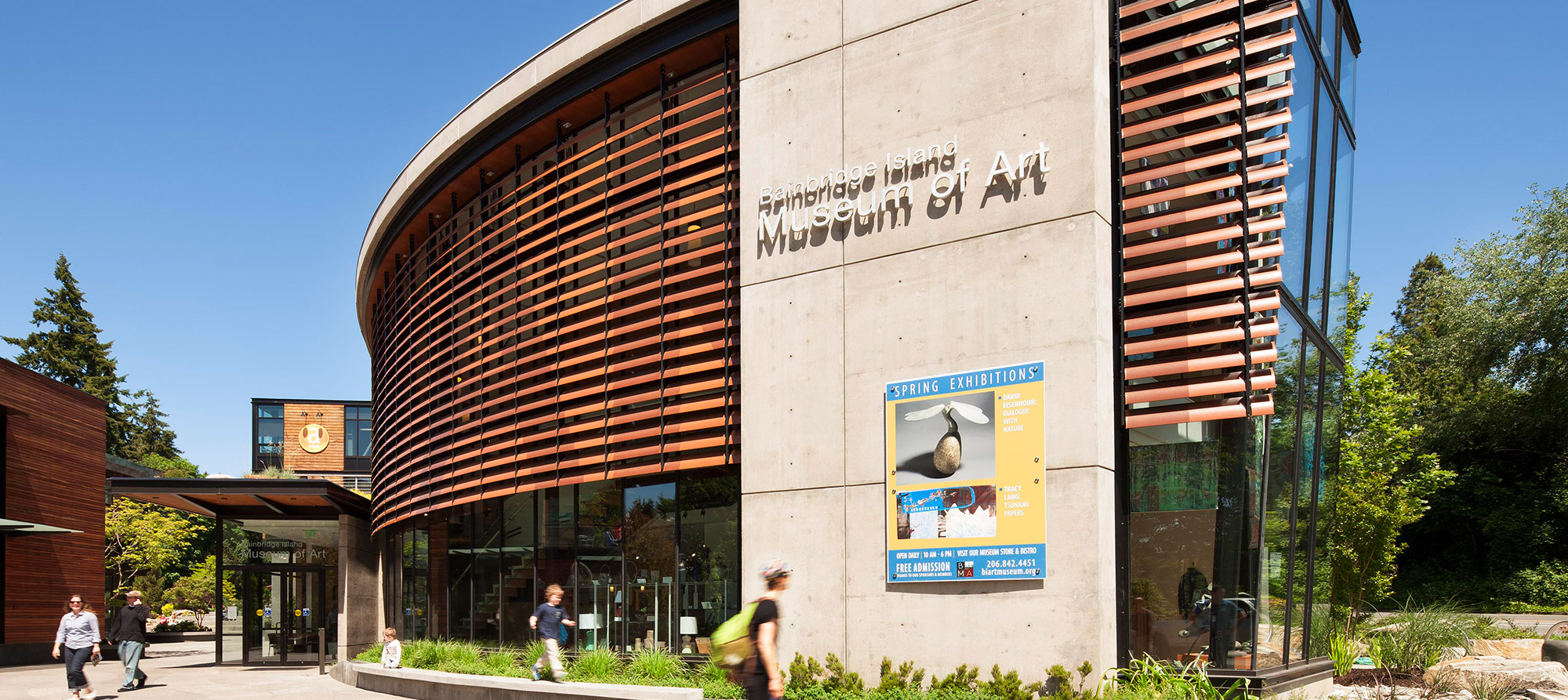 Bainbridge Island Museum of Art, Exterior Entry