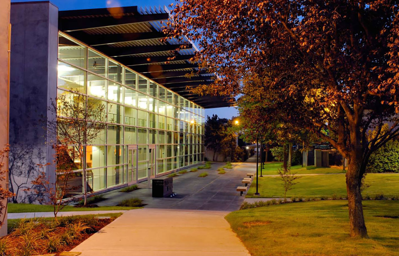South Seattle College, Extension Program Building, Night View, MITHUN
