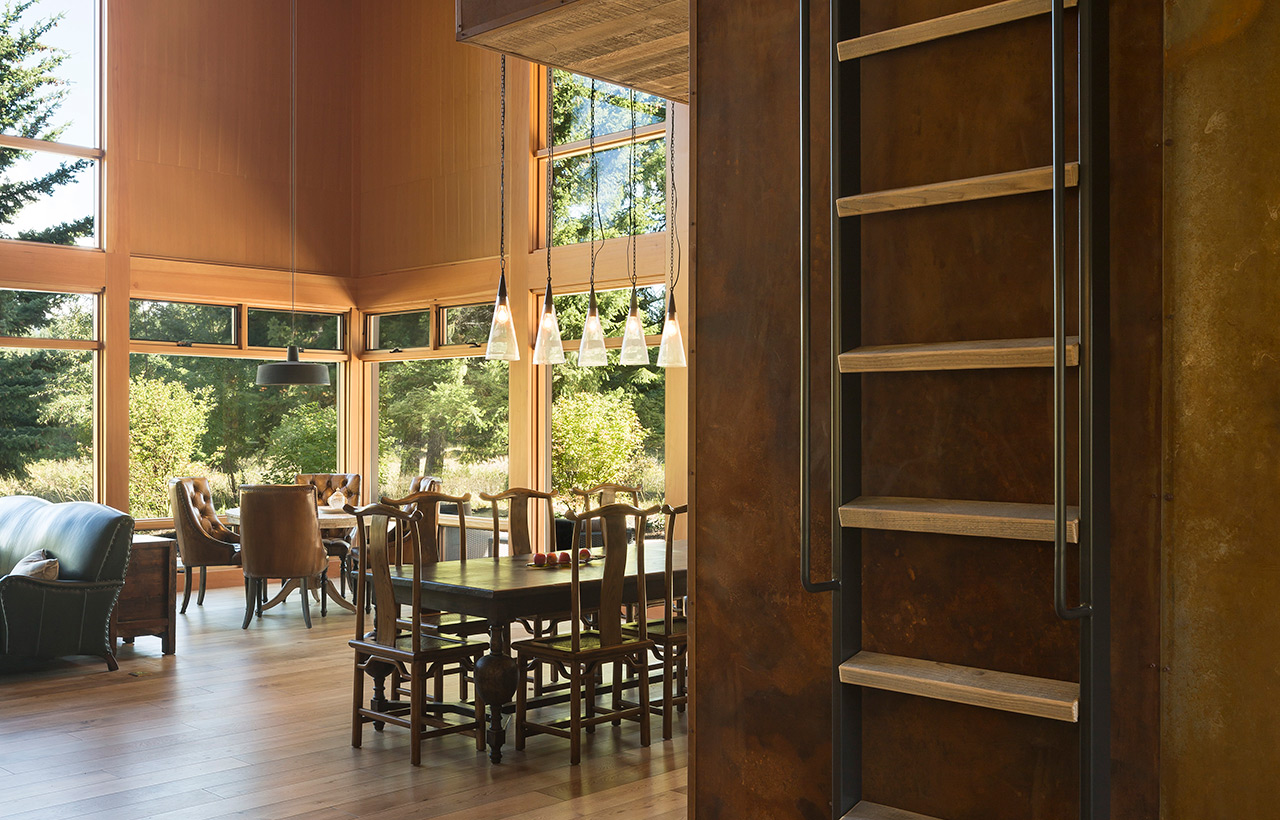 Tumble Creek Residences, Interior, Dining Room View Stair Detail